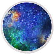 Alpha Centauri Abstract Moods Round Beach Towel