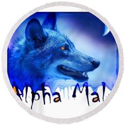 Alpha Male Round Beach Towel