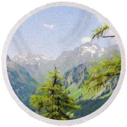 Alpine Altitude Round Beach Towel by Jeff Kolker