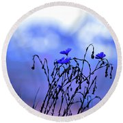 Montana Blue Bells Round Beach Towel