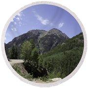 Alpine Loop Trail Round Beach Towel