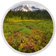 Alpine Meadows Round Beach Towel