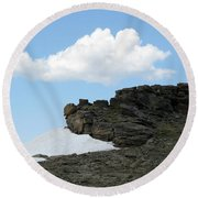 Alpine Tundra - Up In The Clouds Round Beach Towel