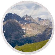 Alpine Tundra And The Colorado Continental Divide Round Beach Towel