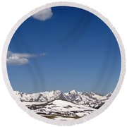 Alpine Tundra Series Round Beach Towel