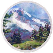 Alpine View Round Beach Towel