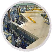 Als Beamlines And Inner Ring Round Beach Towel