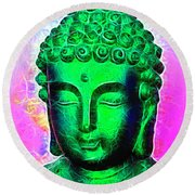 Altered Buddha Round Beach Towel