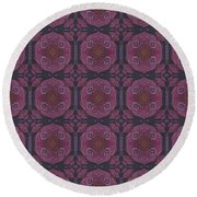 Altered States Experimental Tile Round Beach Towel