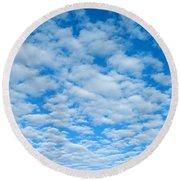 Alto-cumulus Round Beach Towel