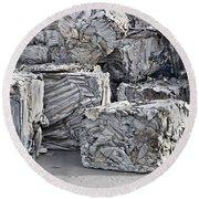 Aluminum Recycling Round Beach Towel
