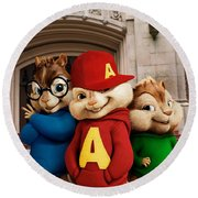 Alvin And The Chipmunks Round Beach Towel