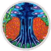 Always Young Round Beach Towel