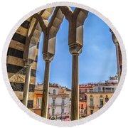 Amalfi Arches Round Beach Towel
