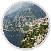Amalfi Coast II Round Beach Towel