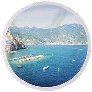 Amalfi Coast, Italy IIi Round Beach Towel