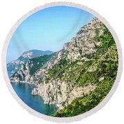 Amalfi Splendor Round Beach Towel