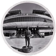 Amalie Arena Black And White Round Beach Towel