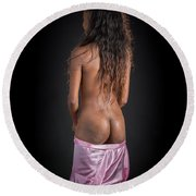 Amani African American Nude Sensual Sexy Fine Art Print 4943.02 Round Beach Towel