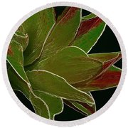 Amaryllis Art Round Beach Towel