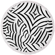 Amazed Round Beach Towel by Tara Hutton