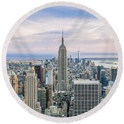 Amazing Manhattan Round Beach Towel
