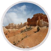 Amazing Mountains In National Park  Round Beach Towel