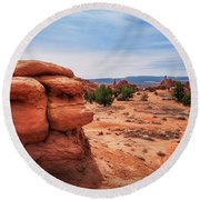 Amazing Rock Formations At Kodachrome Basin State Park, Usa. Round Beach Towel