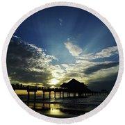 Amazing Sky Pier 60 Round Beach Towel