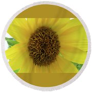 Unique Sunflower Round Beach Towel