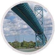 Ambassador Bridge - Windsor Approach Round Beach Towel