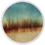 Amber And Blues Round Beach Towel
