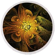 Amber Light Round Beach Towel