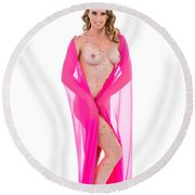 Amber Nude Fine Art Print In Sensual Sexy 5175.02 Round Beach Towel