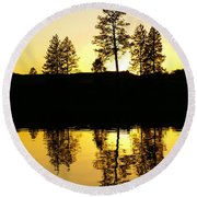 Amber Sunset Round Beach Towel
