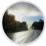 Ambient Autumn Round Beach Towel