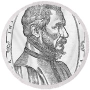 Ambroise Pare, French Surgeon, 1561 Round Beach Towel