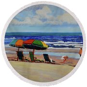 Amelia Afternoon Round Beach Towel