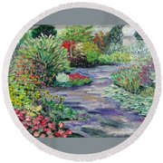 Amelia Park Blossoms Round Beach Towel