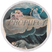 America. A Prophecy. Plate 2 Round Beach Towel