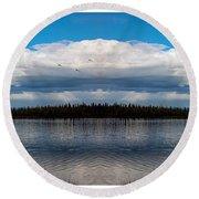 America The Beautiful 2 - Alaska Round Beach Towel