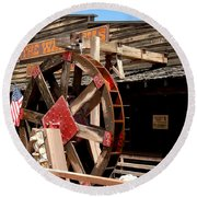 America Water Wheel Round Beach Towel