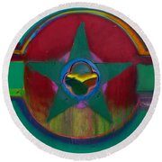 American Army Landscape Round Beach Towel