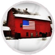 American Barn Round Beach Towel by Bill Cannon