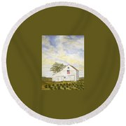 American Barn Round Beach Towel