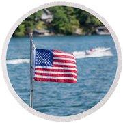 American Dream Round Beach Towel