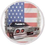 American Dream Machine Round Beach Towel