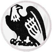 American Eagle, 1854 Round Beach Towel