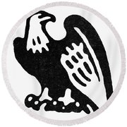 American Eagle, 1854 Round Beach Towel