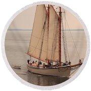 American Eagle Sail Round Beach Towel